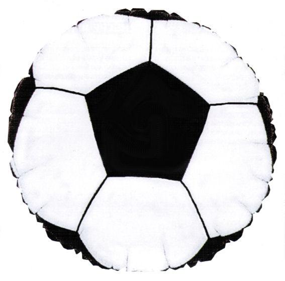 Folien-Rundballon 'Soccerball / Fußball', ca. 43 cm Ø