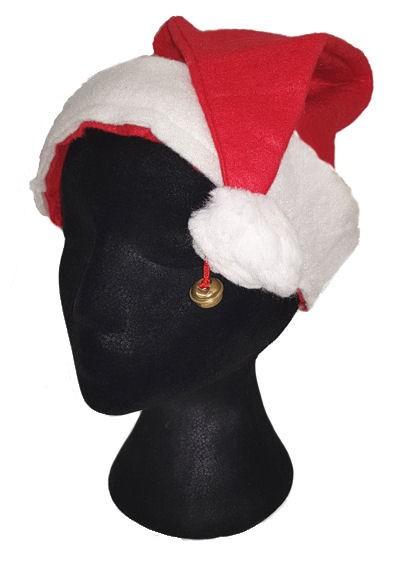 'Weihnachtsmann-Mütze mit Glöckchen' rot-weiß, Einheitsgröße