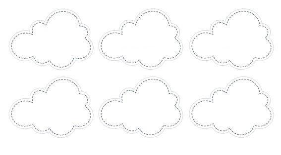 'Little Cloud'-Aufkleber ca. 6 x 4,3 cm im 6er Pack. für Candy Bar u.ä.