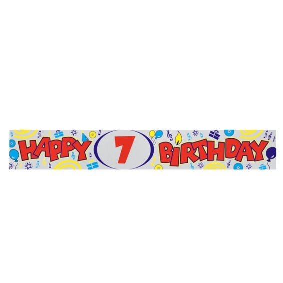 'Happy 7th Birthday'-Banner, ca. 270 cm lang