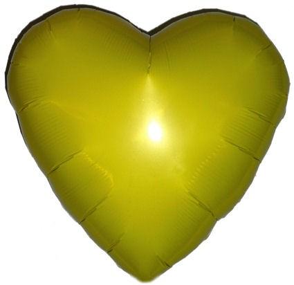 """Folien-Herzballon (A), ca. 18"""" / 45 cm Ø, gelb"""