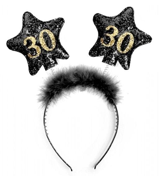 '30th Birthday' Haarreifen / Kopfband zum 30. Geburtstag