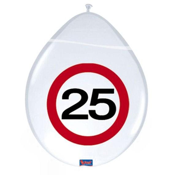'Verkehrszeichen 25' - Luftballons, ca. 30 cm Ø, weiß, 1-S-Druck, im 8er-Pack.