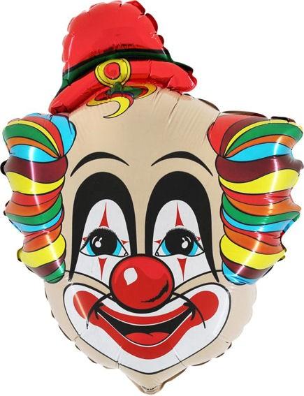 Folienballon 'Clown Rudolf', ca. 71 cm Ø, ohne Gasfüllung