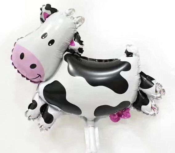 Mini-Folien-LUFTballon 'Cow / Kuh' mit Ventil