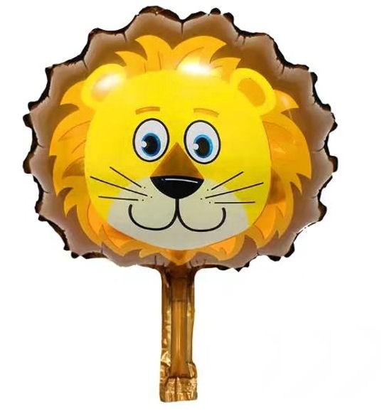 Mini-Folien-LUFTballon 'Lion-Head / Löwen-Kopf'