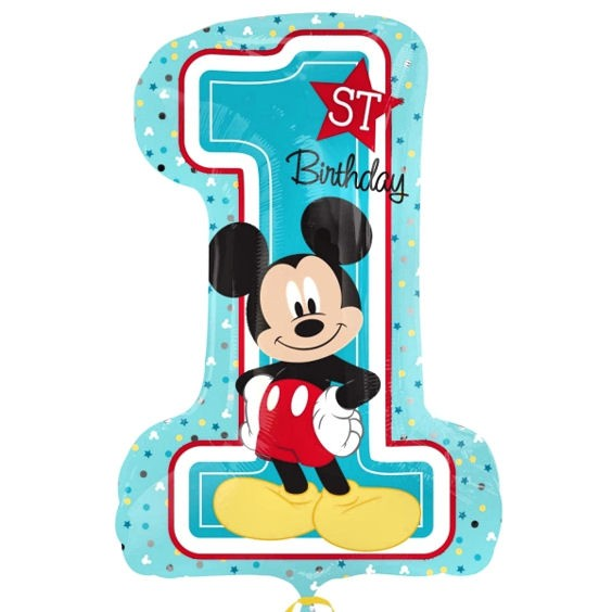 Folien-Zahlenballon (G) 'Mickey 1st Birthday'