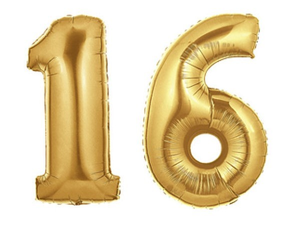 Ballon Nummer Farbe gold Geburtstag//Neujahr 1 Stück 86 cm