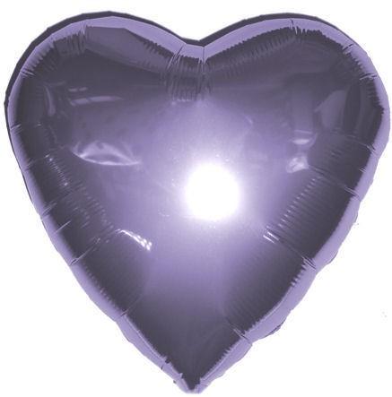 """Folien-Herzballon (A), ca. 18"""" / 45 cm Ø, flieder"""