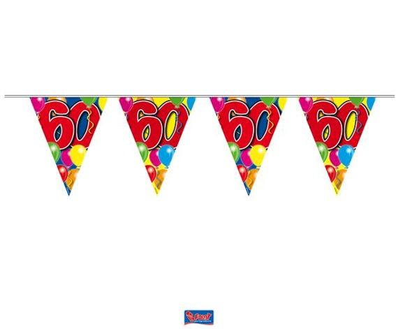 'Ballons - 60' Wimpelkette, bunt, Kunststoff, ca. 10 m