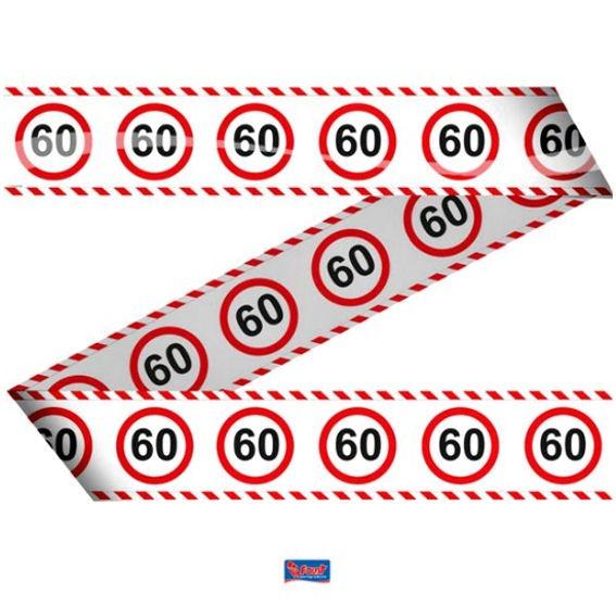 'Verkehrszeichen 60' Absperrband, ca. 7,5 cm x 15 mtr.