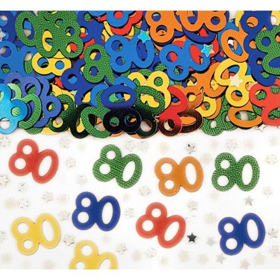 'Zahlen 80' Flitterbox-Streuartikel, bunt, ca. 14 gr.