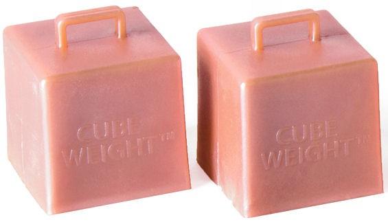 Mittelgroßes Ballongewicht 'Cube / Würfel' ca. 65 gr. schwer, rose-gold