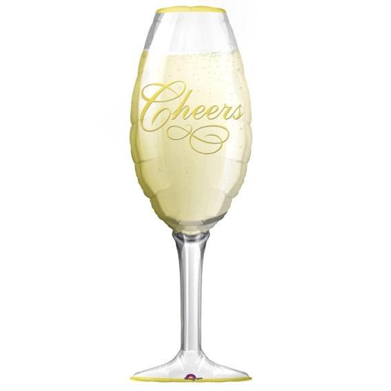 FolienballonShape (F) 'Champagneglas - Cheers', ca. 97 cm