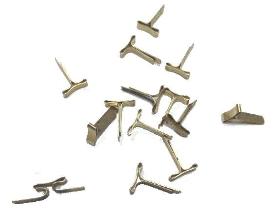 10 Stück Flachkopfklammer, 18 mm, Verbinder für Banner-Letters