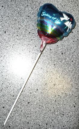 Mini-Folienballon-Stecker 'Herz - Thinking of You'